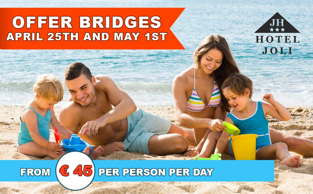 Offer for April 25th and May 1st bridges - Hotel Joli Alba Adriatica